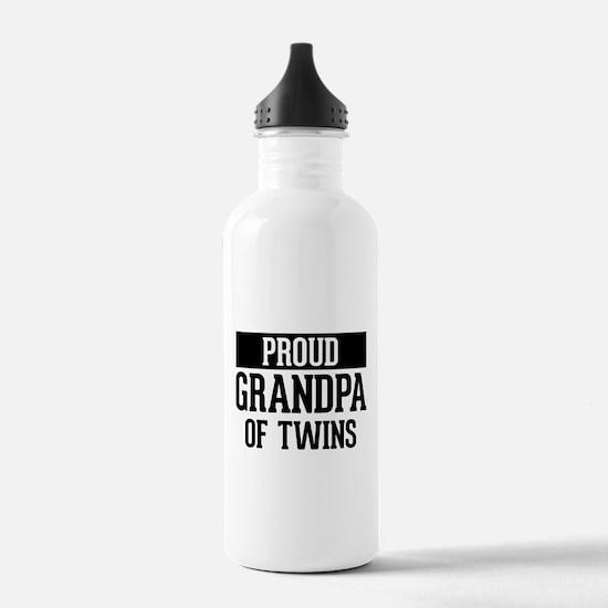 Proud Grandpa Of Twins Water Bottle