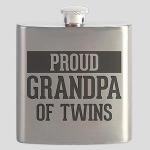 Proud Grandpa Of Twins Flask