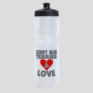 Kerry Blue Terrier Love Sports Bottle