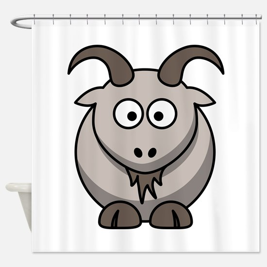 Cute Cartoon Goat Shower Curtain