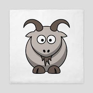 Cute Cartoon Goat Queen Duvet