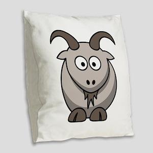 Cute Cartoon Goat Burlap Throw Pillow
