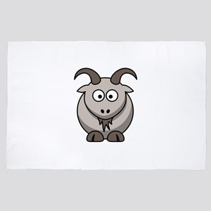 Cute Cartoon Goat 4' x 6' Rug