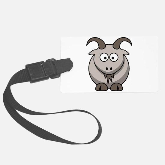 Cute Cartoon Goat Luggage Tag