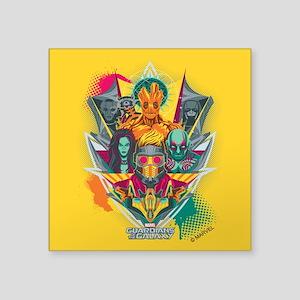 "GOTG Guardians Team Shield Square Sticker 3"" x 3"""