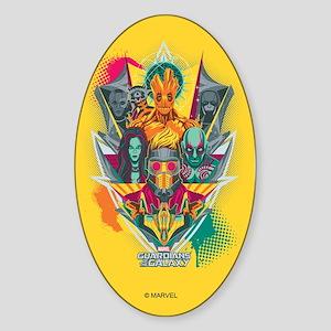 GOTG Guardians Team Shield Sticker (Oval)
