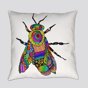 Painted Bee Everyday Pillow