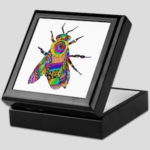 Painted Bee Keepsake Box