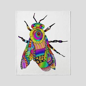 Painted Bee Throw Blanket