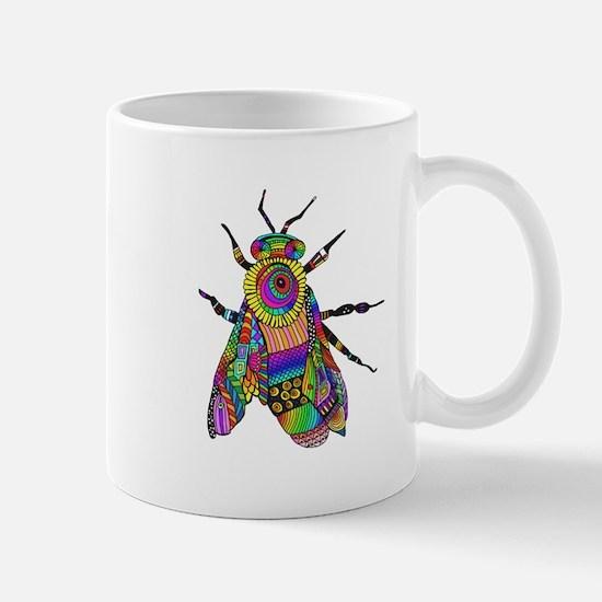 Painted Bee Mugs