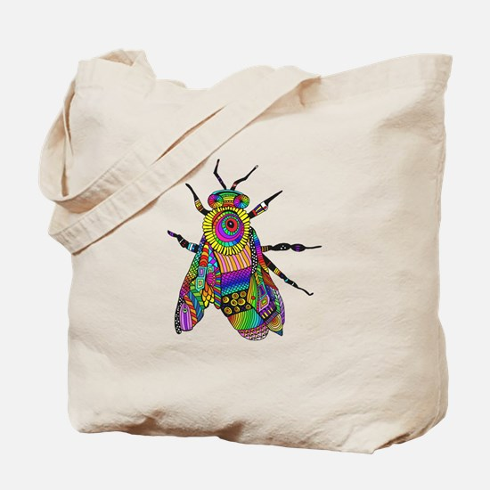 Painted Bee Tote Bag