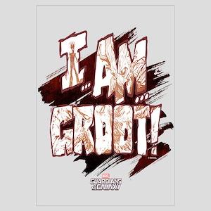 GOTG Comic I am Groot Wall Art