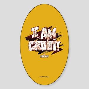 GOTG Comic I am Groot Sticker (Oval)