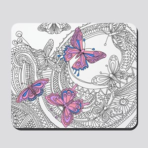 Butterfly Sketch 3 Mousepad