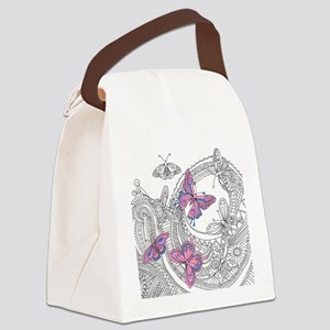 Butterfly Sketch 3 Canvas Lunch Bag