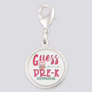 Preschool Shirts for Girls Per Silver Round Charm