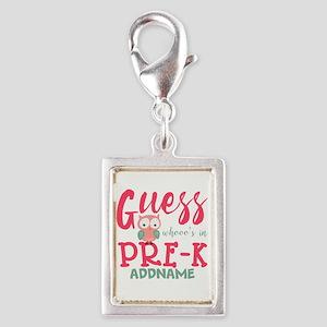 Preschool Shirts for Girls P Silver Portrait Charm