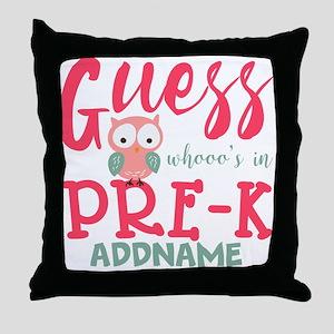Preschool Shirts for Girls Personaliz Throw Pillow