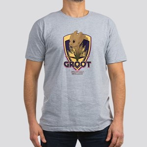 GOTG Baby Groot Emblem Men's Fitted T-Shirt (dark)