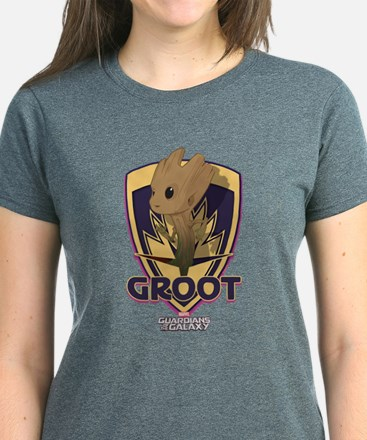 GOTG Baby Groot Emblem Women's Dark T-Shirt
