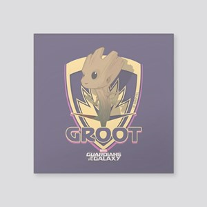 "GOTG Baby Groot Emblem Square Sticker 3"" x 3"""