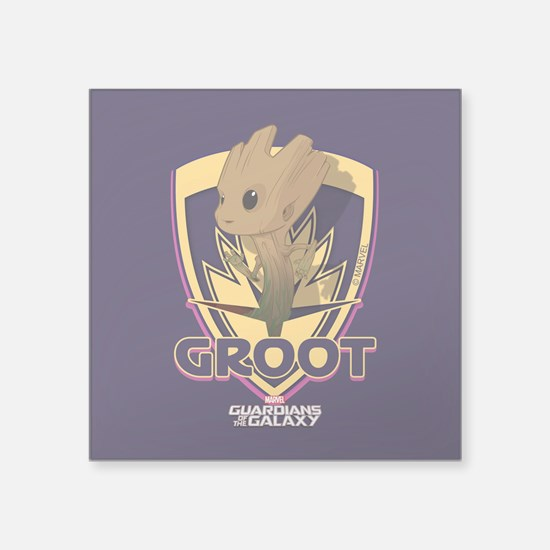 "GOTG Baby Groot Emblem Square Sticker 3"" x 3"""