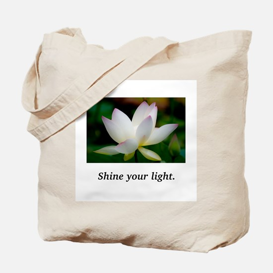Shine Your Light Lavender Lily Tote Bag