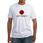 Big Red Button Fitted T-Shirt