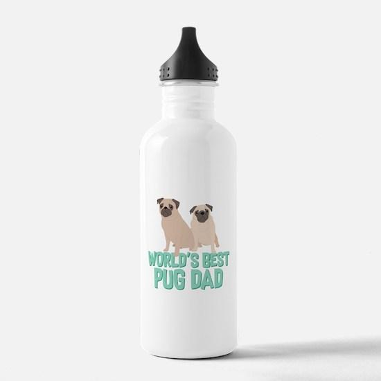 World's Best Pug Dad Water Bottle