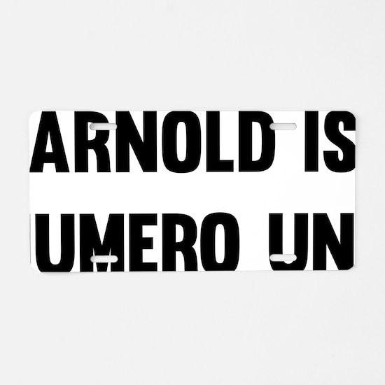 Unique Arnold Aluminum License Plate