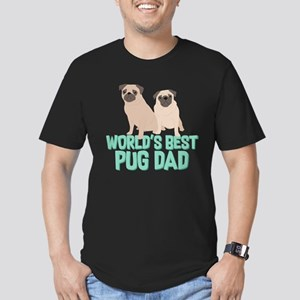 World's Best Pug Dad Men's Fitted T-Shirt (dark)