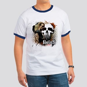 Punisher Grunge Ringer T