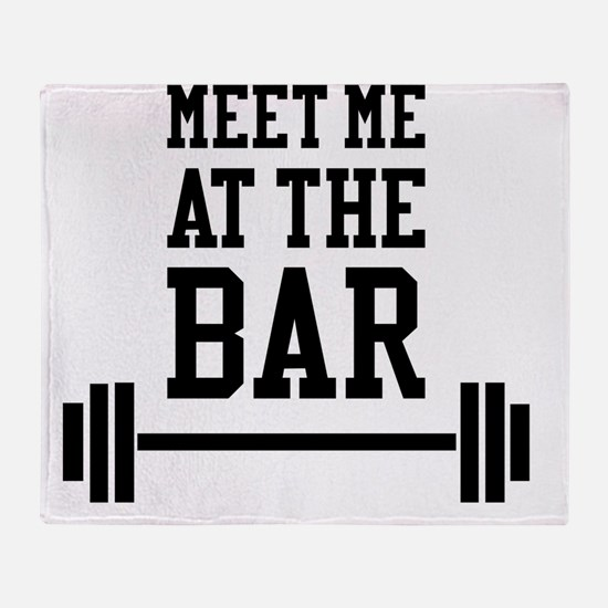 Cute Bodybuilding Throw Blanket