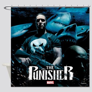 Punisher Sharks Shower Curtain