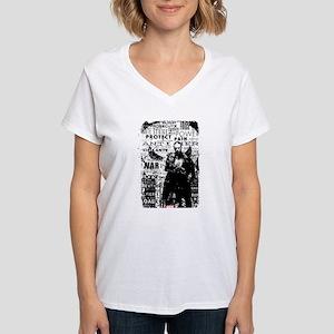 Punisher Skull Typography Women's V-Neck T-Shirt