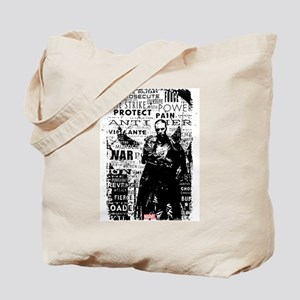 Punisher Skull Typography Tote Bag