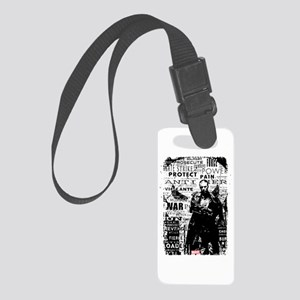 Punisher Skull Typography Small Luggage Tag