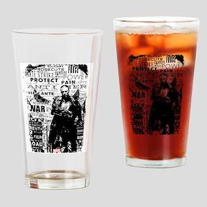 Punisher Skull Typography Drinking Glass