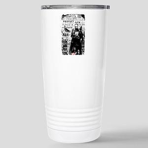 Punisher Skull Typograp Stainless Steel Travel Mug
