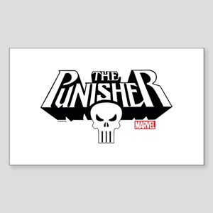 Punisher Logo Sticker (Rectangle)