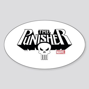 Punisher Logo Sticker (Oval)