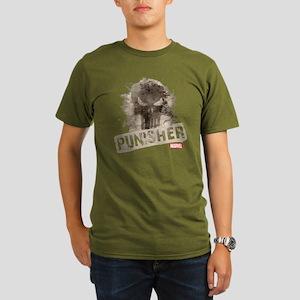 Punisher Grunge Organic Men's T-Shirt (dark)