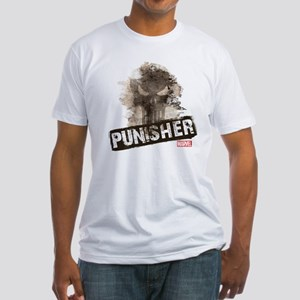 Punisher Grunge Fitted T-Shirt