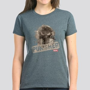 Punisher Grunge Women's Dark T-Shirt