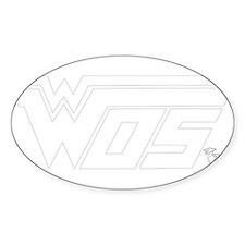 WOS White Sticker