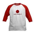 Big Red Button Kids Baseball Jersey