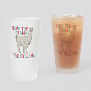 Save The Drama For Yo Llama Drinking Glass
