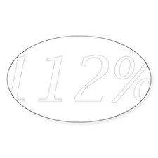 112 White Sticker