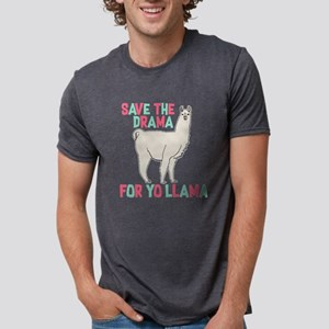 Save The Drama For Yo Llama Mens Tri-blend T-Shirt