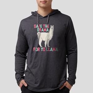 Save The Drama For Yo Llama Mens Hooded Shirt